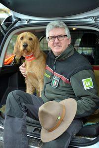Jörg Pahl mit Hund Carlos
