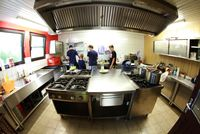 Die Küche am Zeltplatz